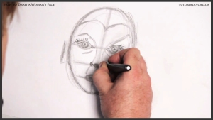 learn how to draw a womans face 013